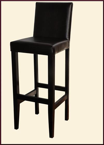 4x barhocker barstuhl holz leder dunkel braun wenge neu ebay. Black Bedroom Furniture Sets. Home Design Ideas