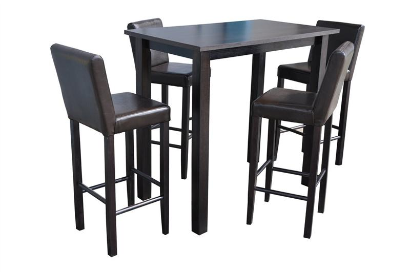 set bartisch bistrotisch 120x70x110 4 barhocker neu ebay. Black Bedroom Furniture Sets. Home Design Ideas