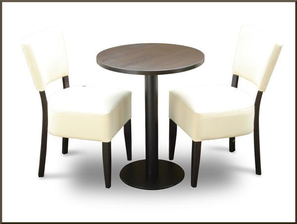 set 2 x stuhl gepolstert tisch rund 60 cm h 76cm bistro eisdiele cafeteria ebay. Black Bedroom Furniture Sets. Home Design Ideas