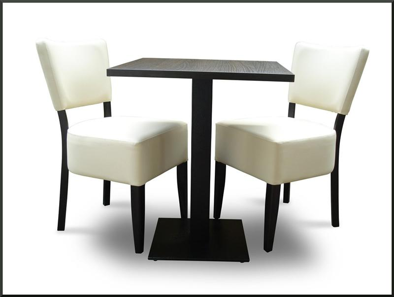 set 2xstuhl gepolstert tisch 60x60 cm h 76cm bistro eisdiele cafeteria ebay. Black Bedroom Furniture Sets. Home Design Ideas